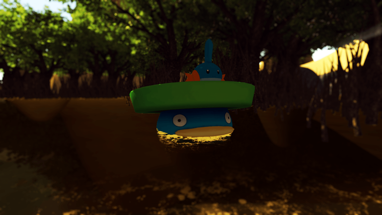 Mudkip and Lotad in the Sandbox 1 by jedi201
