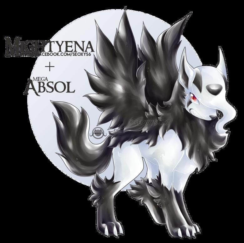Mightyena X Mega Absol by Seoxys6