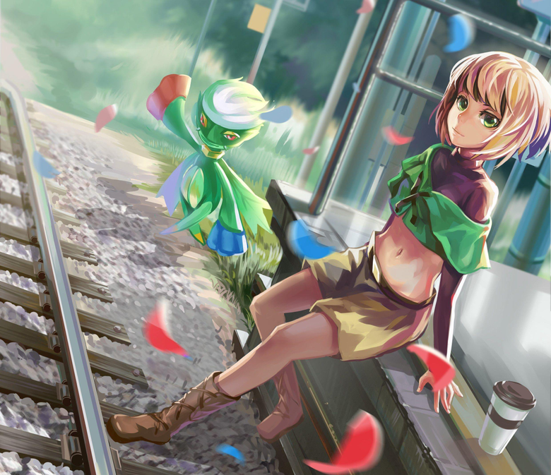 Pokemon trainer and Roselia Full HD Wallpapers and Backgrounds Image