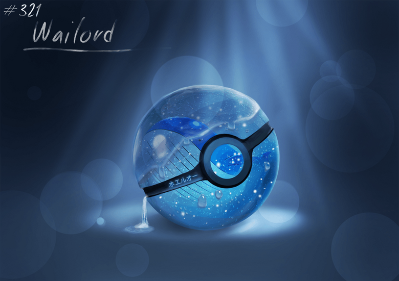 Conceptual Pokeball Wailord by Lun1c
