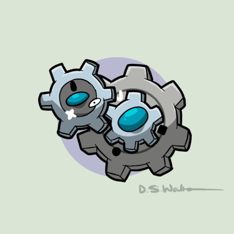 The Gear Pokemon Klang by Waltonsaurus