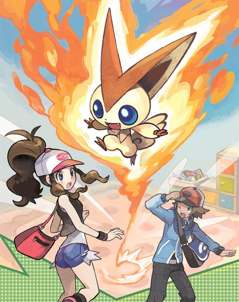 Pokemon Generation V Heroine image Victini promo image HD wallpapers