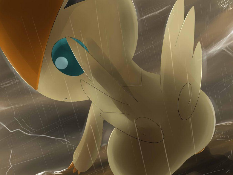 Pokemon Victini Silvestre by Sorocabano