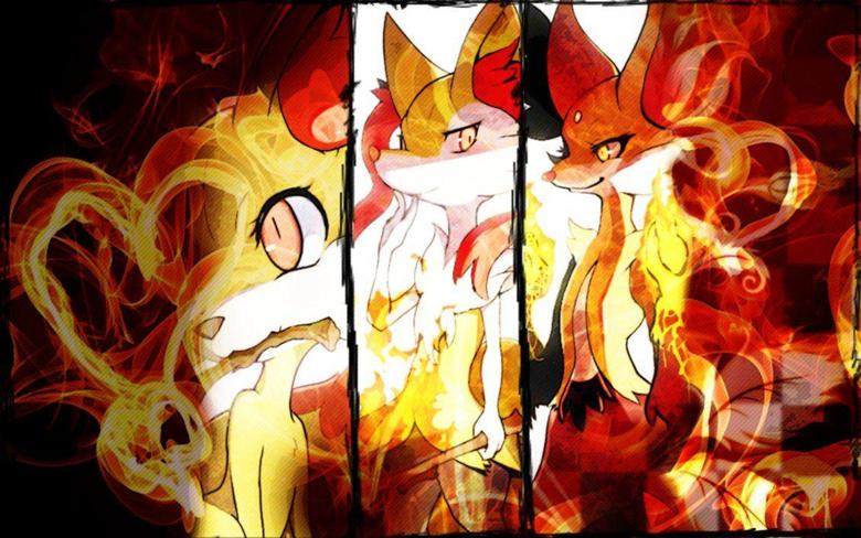Fennekin Braixen Delphox Wallpapers Pokemon XY by Rainbowicescream