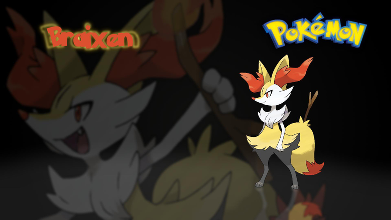 I made a Braixen wallpapers for my boyfriend thought I could post it