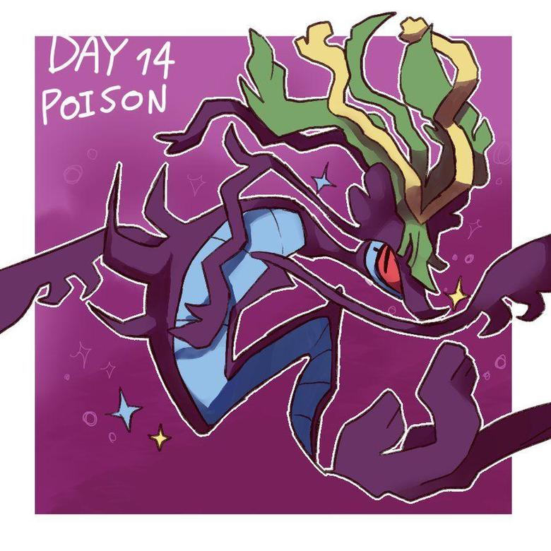 pokeddexy day 14 dragalge by ScarfFetish