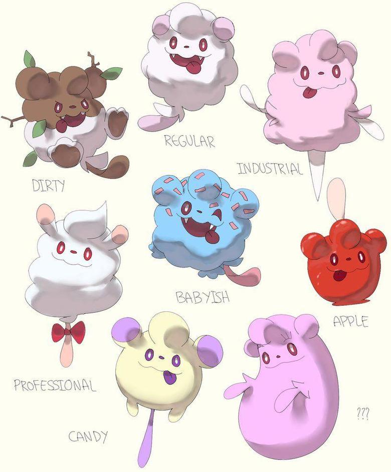 Swirlix variations by PinkGermy