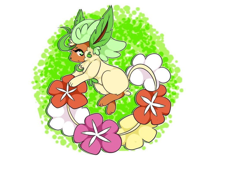 My hobby is Pokémon fusions Meet a Comfey Leafeon