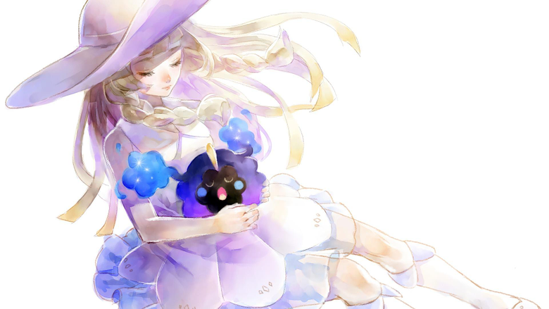 Lillie and Cosmog Art Pokemon Sun an Wallpapers