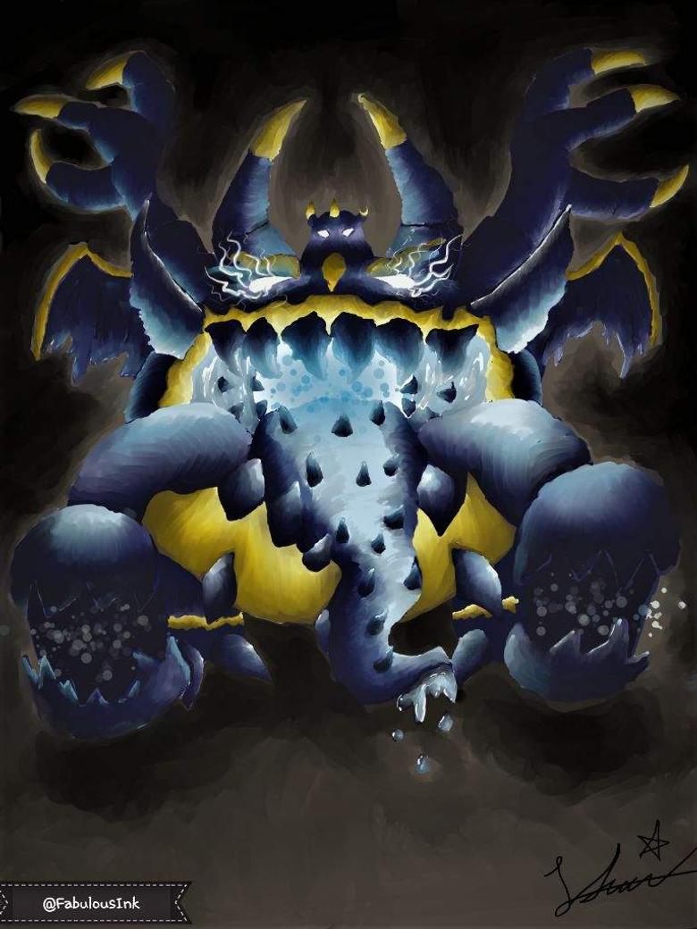 Guzzlord Appears Dex Art Entry