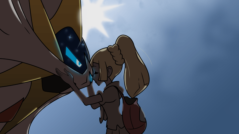I recreated the credits image of Lillie and Lunala and made a