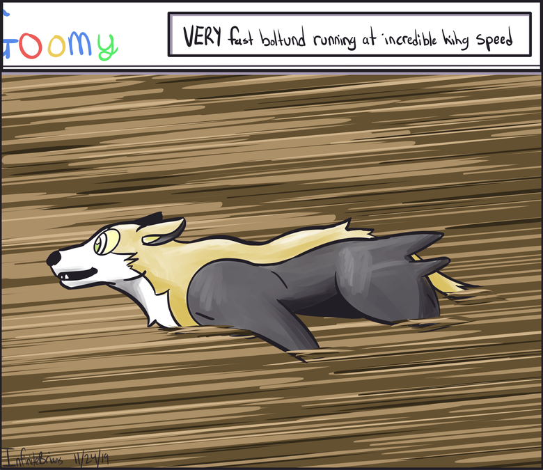 VERY fast boltund running at incredible hihg speed by