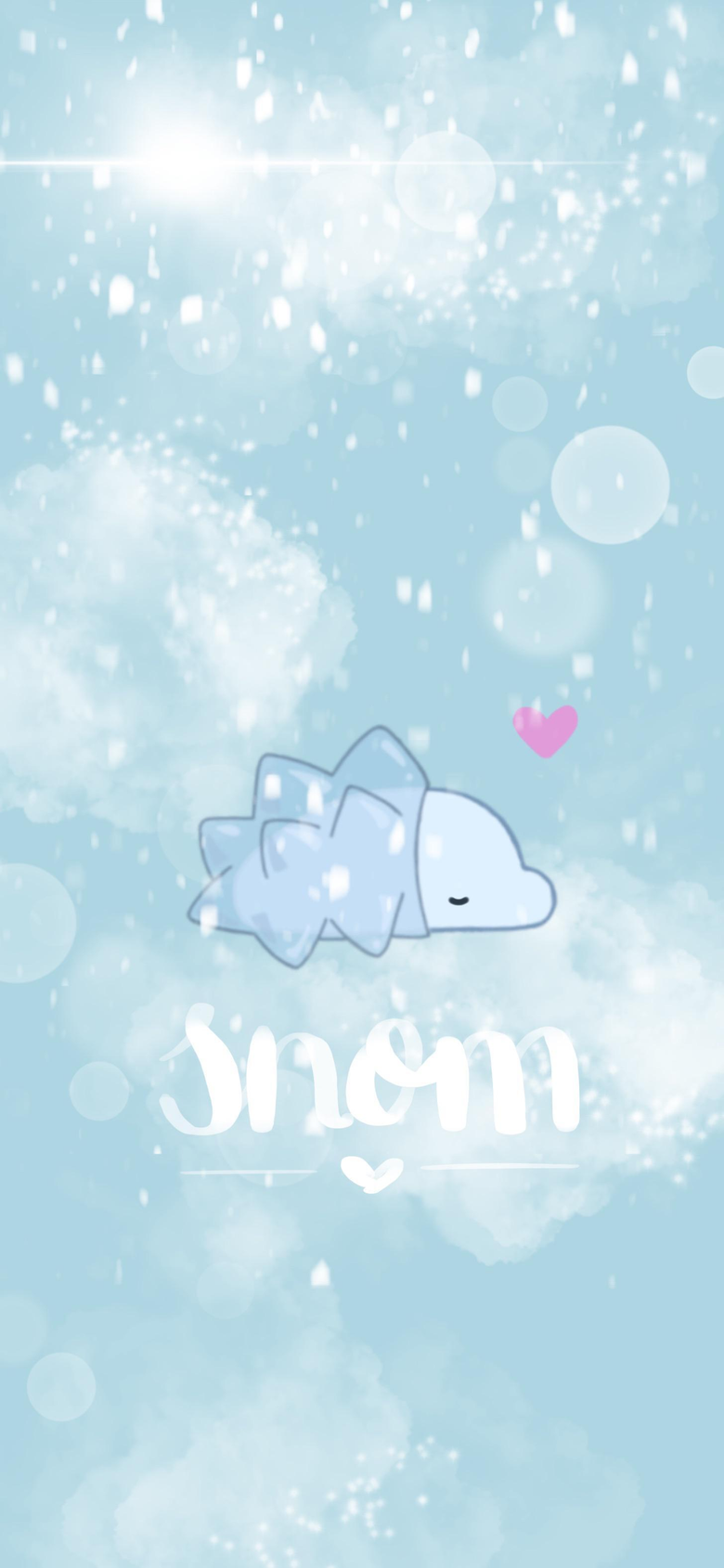 A snowy snom for my phone backgrounds this winter