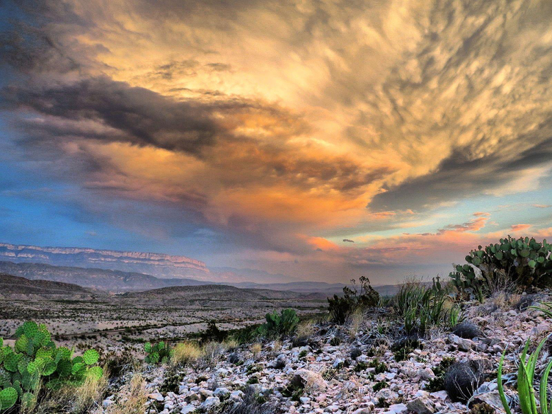 Today s sunset in Big Bend National Park Texas HD Wallpapers From