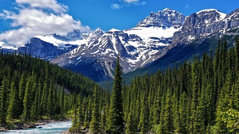 Alberta canada national park canadian rockies clouds wallpapers