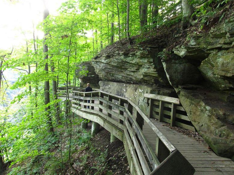 Boardwalk Trail to Brandywine Falls Cuyahoga Valley Natio