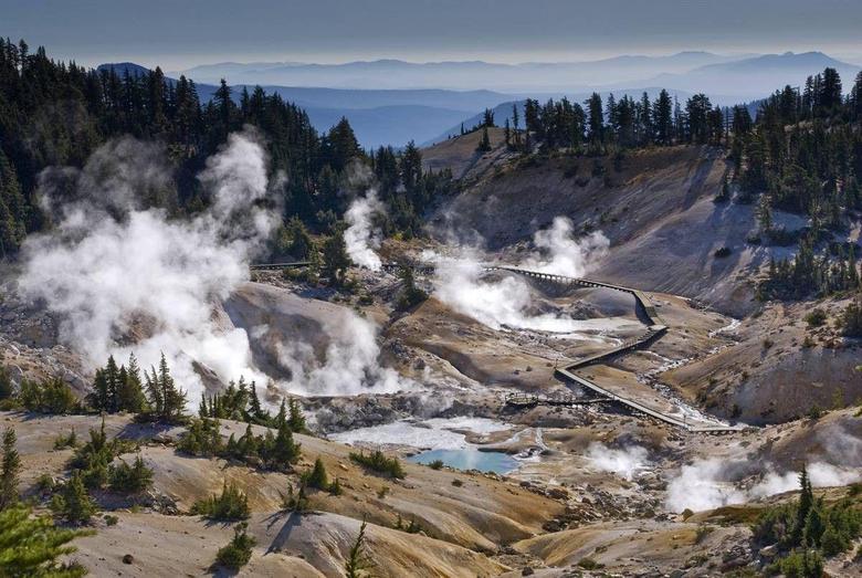 Mountain Lassen Volcanic National Park Steam Volcano Mountains