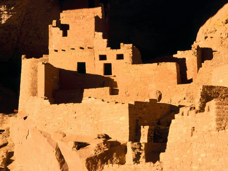 Cliff Palace Anasazi Cliff Dwelling Mesa Verde