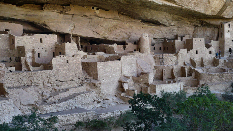 Ancient Cliff Palace Mesa Verde Dwelling Photography National