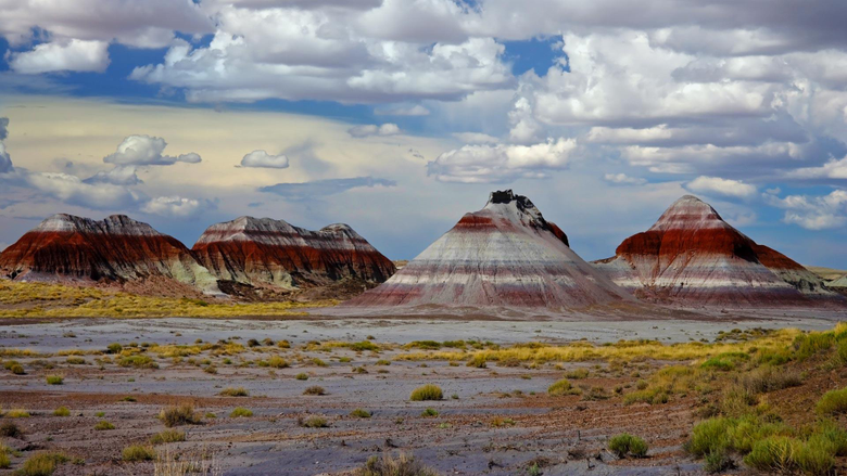 Mountains in the Painted Desert Petrified Forest National Park