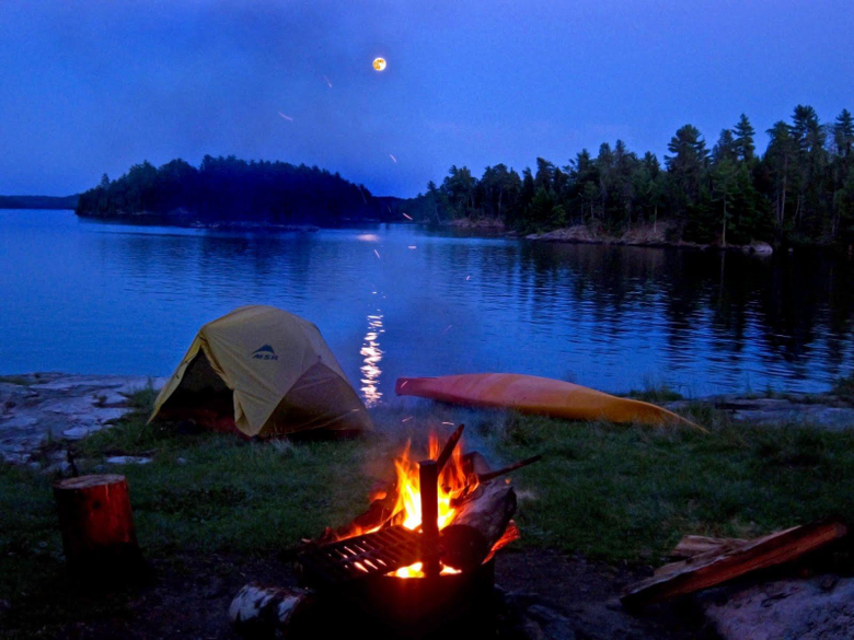 camping at voyageurs national park in northern MN gorgeous