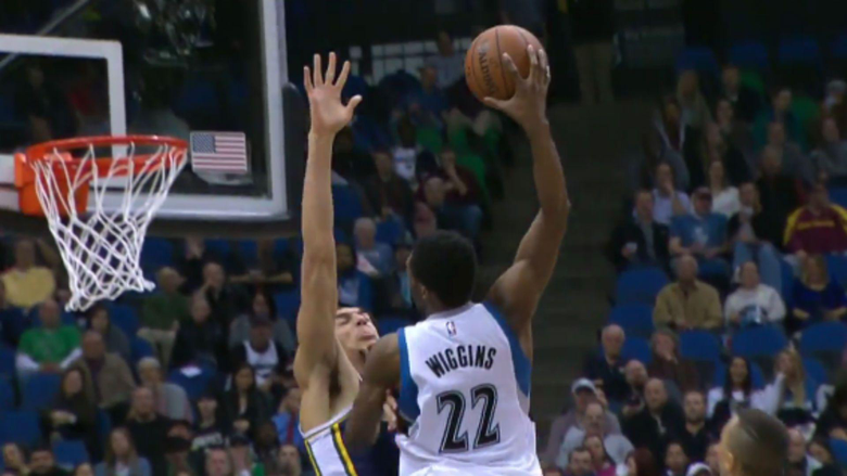 Andrew Wiggins dunks all over Rudy Gobert not once but twice
