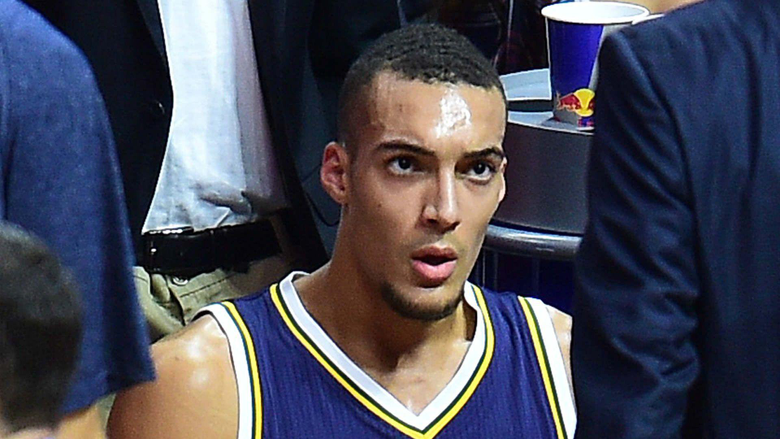 NBA playoffs Rudy Gobert out after 13 seconds with knee injury