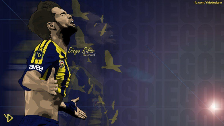Diego Ribas Vector with Fenerbahce SK by YldzDesignn