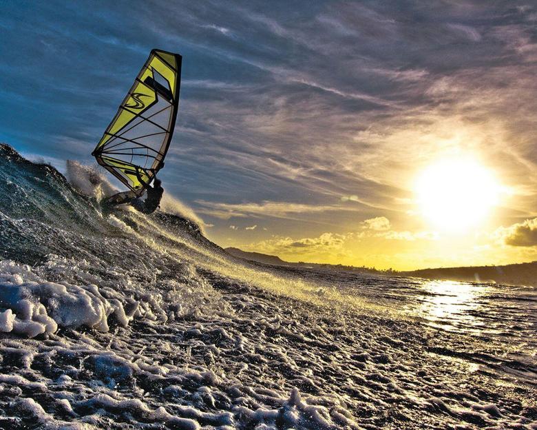 Pin Desktop Wallpapers Windsurfing At Sunset
