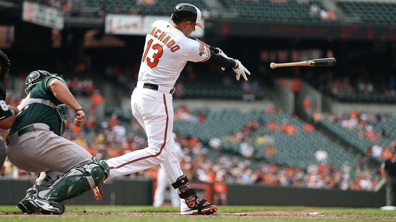 Manny Machado throws bat fuels A s