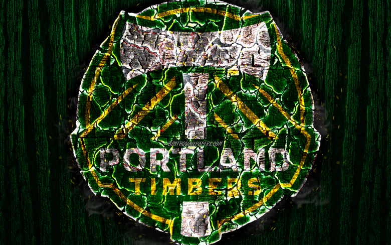 wallpapers Portland Timbers FC scorched logo MLS green