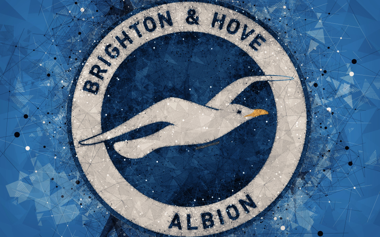 wallpapers Brighton and Hove Albion FC 4k logo geometric