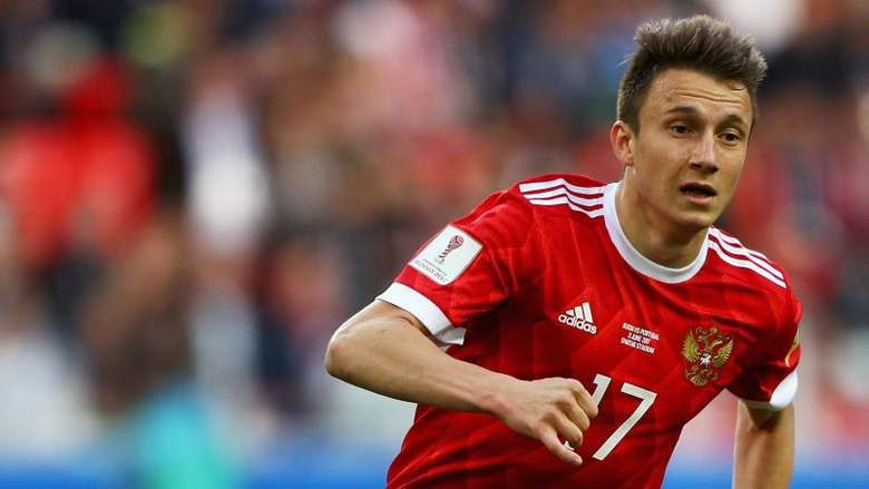 Team news Russia start Alan Dzagoev and Aleksandr Golovin in World