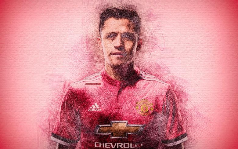 wallpapers Alexis Sanchez 4k artwork football stars