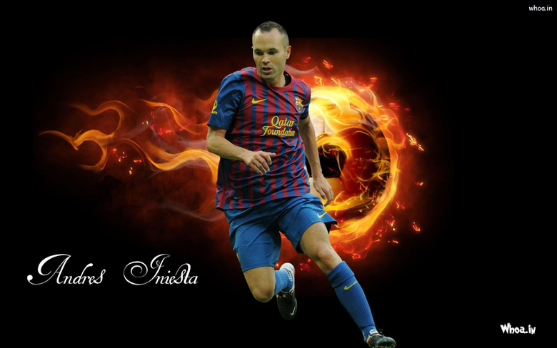 Andres Iniesta Face Close Up Wallpapers