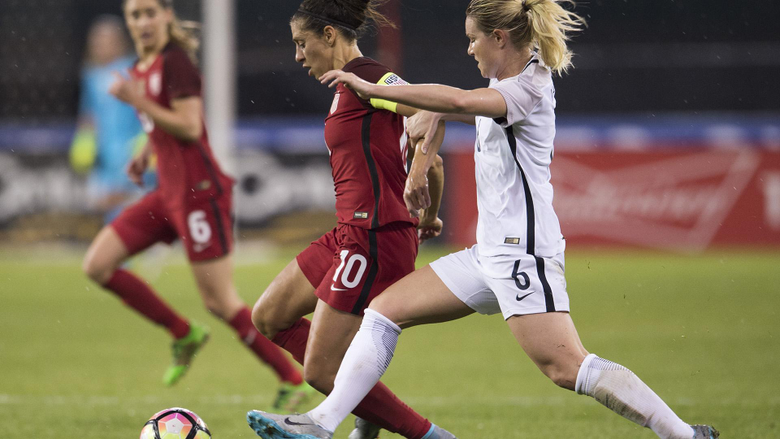 Amandine Henry and France win the SheBelieves Cup