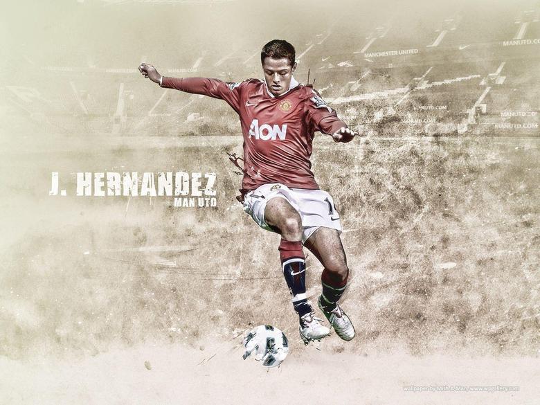 Javier Chicharito Hernandez Manchester United 2012
