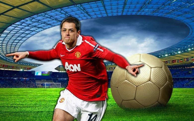Football Javier Hernandez New Nice hd Wallpapers 2013
