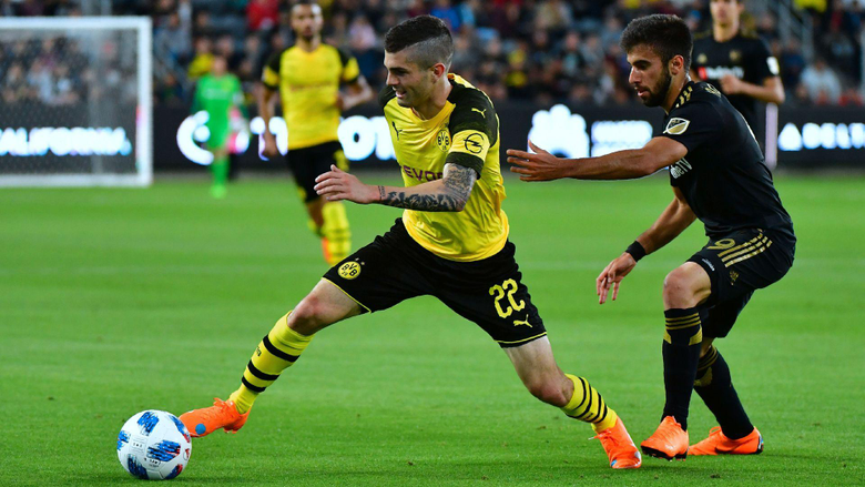 Christian Pulisic and Borussia Dortmund draw with Los Angeles FC