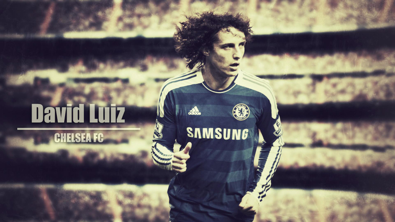 The football player of Chelsea David Luiz wallpapers and image