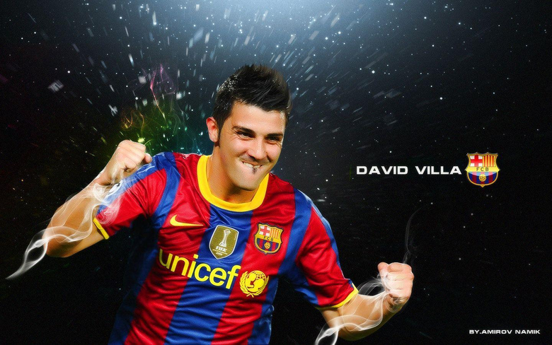 David Villa FC Barcelona Wallpapers