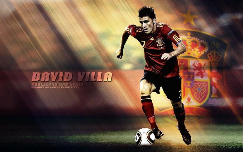 David Villa Spanish National Team Wallpapers