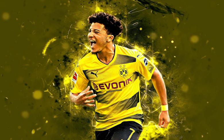 wallpapers Jadon Sancho english footballers Borussia