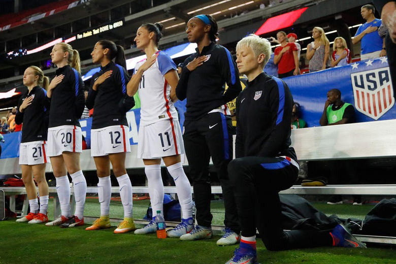 U S Soccer banned Megan Rapinoe s national anthem protest without