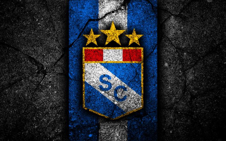 wallpapers 4k Sporting Cristal FC logo Peruvian Primera