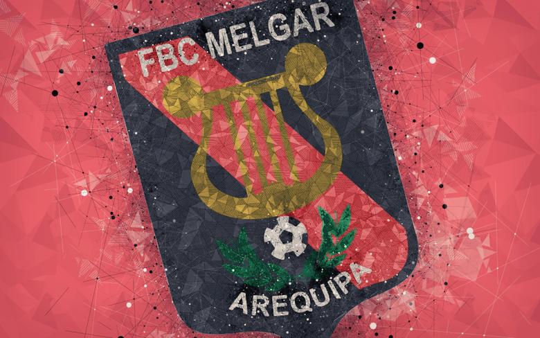 wallpapers FBC Melgar 4k geometric art logo Peruvian