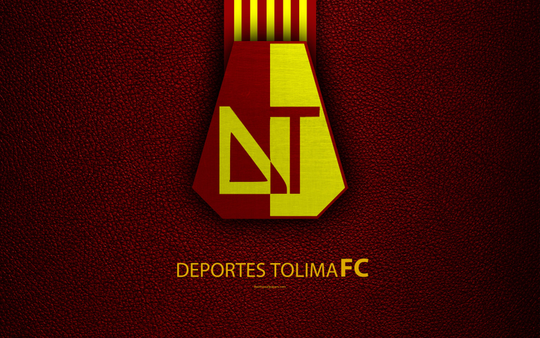 wallpapers Club Deportes Tolima 4k leather texture logo