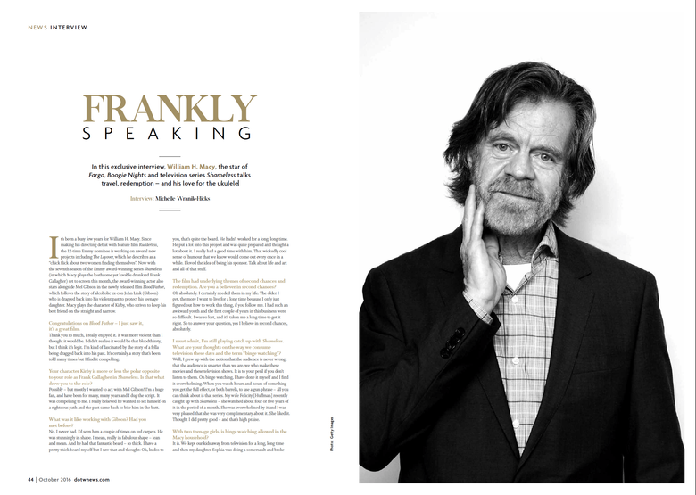 FRANKLY SPEAKING AN INTERVIEW WITH WILLIAM H MACY