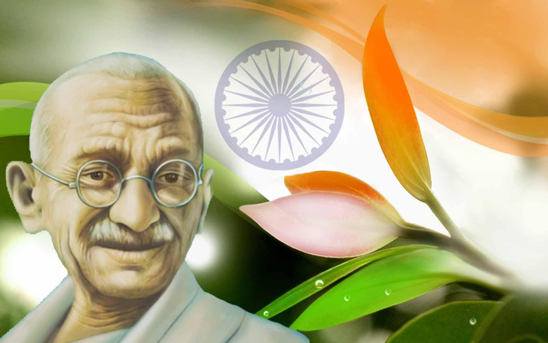 Happy Gandhi Jayanthi Image Quotes by Father of Nation Mohandas