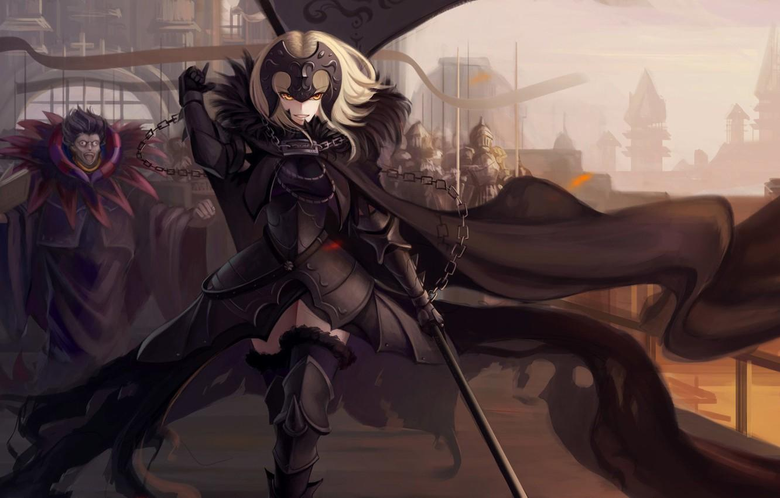 Wallpapers girl weapons anime warrior chain fate fate grand